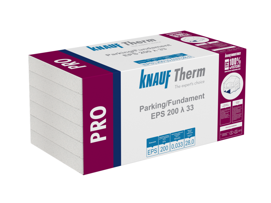Knauf Therm - Pro Parking/Fundament EPS 200 λ 33