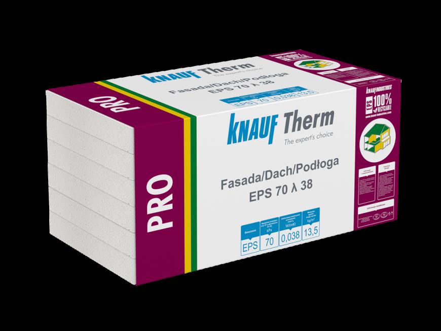 Knauf Therm - Pro Fasada/Dach/Podłoga EPS 70 λ 38