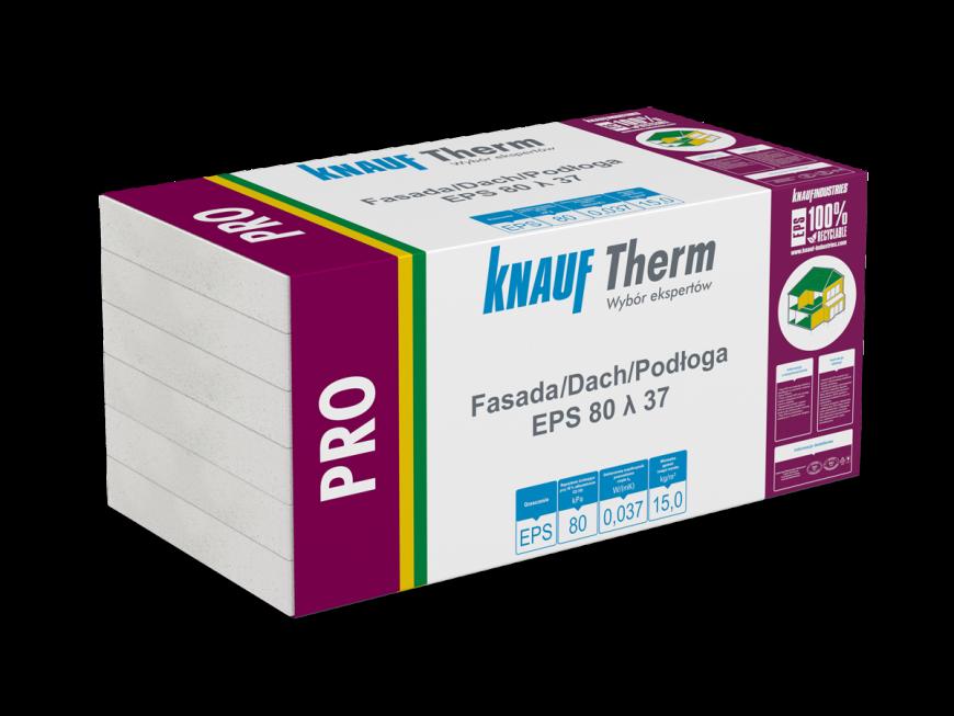 Knauf Therm - Pro Fasada/Dach/Podłoga EPS 80 λ 37